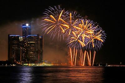 Fireworks - Detroit River