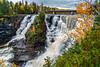 Kakabeka Falls with fall foliage color near Thunder Bay, Ontario, Canada,