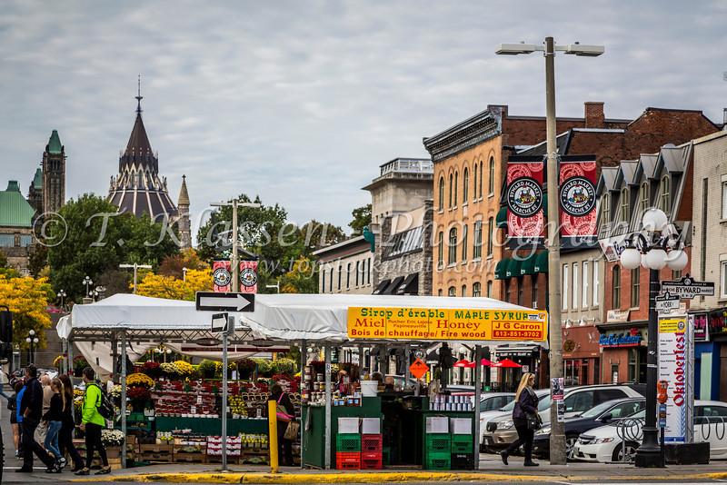 The Byward Market in Ottawa, Ontario, Canada.