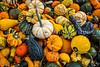 Small colorful gourds in the Byward Market in central Ottawa, Ontario, Canada.