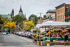 A shopping street in the Byward Market in central Ottawa, Ontario, Canada.