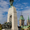The National War Memorial in Ottawa, Ontario, Canada.