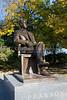 The statue of Lester Pearson on Parliament Hill in Ottawa, Ontario, Canada.