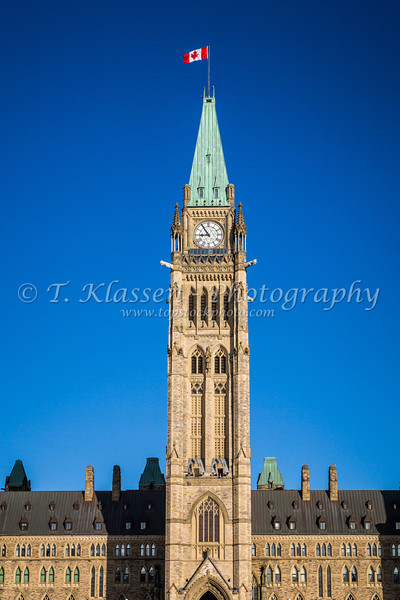 The Canadian parliament buildings on Parliament Hill in Ottawa, Ontario, Canada.