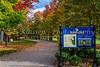 The Rideau Hall estate with fall foliage color in Ottawa, Ontario, Canada.