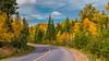 Fall foliage color at the Sleeping Giant Provincial Park, Thunder Bay, Ontario, Canada.
