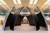 Interior architecture of Pearson Internaional Airport in Toronto, Ontario, Canada.