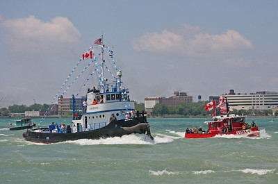 Tugboat Race on the River
