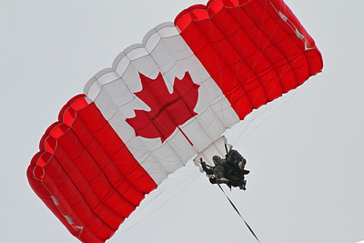 Above is comedian Rick Mercer doing a tandem jump for his TV show