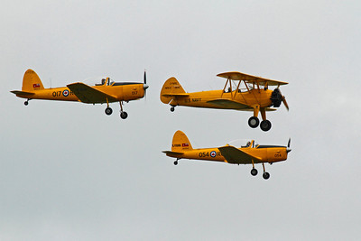 Vintage aircraft - two Chipmunks and a Stearman