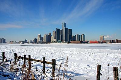 Frozen Detroit River