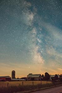 Milky Way over farmland. Outside of Ottawa ON.