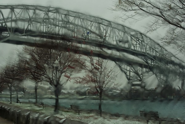 Rainy Monday, Bluewater Bridges, Point Edward, Ont