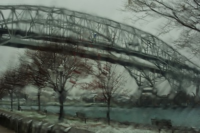 Rainy Monday, Bluewater Bridges, Point Edward, Ont