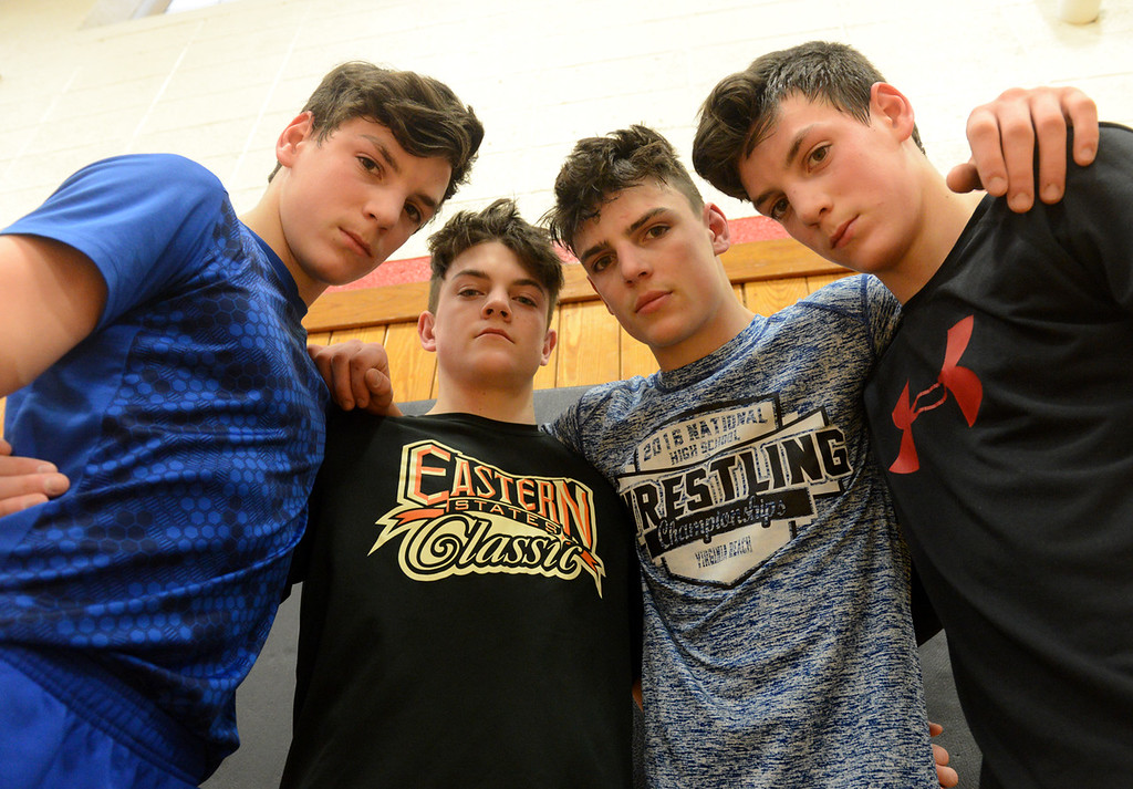 . Tania Barricklo-Daily Freeman                      Ross brothers, from left: Nick, Nate, Dillon and Patrick.