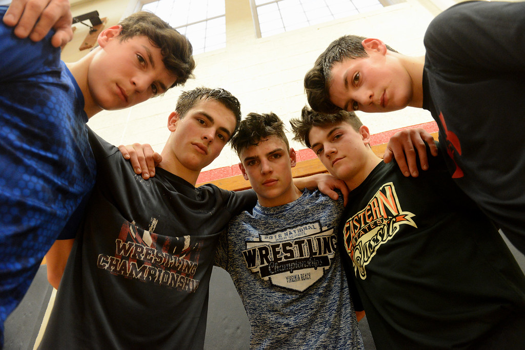 . Tania Barricklo- Daily Freeman  Nick Ross, Zach Chartrand, Dillon Ross, Nate Ross and Patrick Ross.