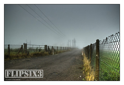 HDR shot of lane leading to an electricity substation in Kibworth, Leicestershire UK