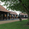 Dalham Hall stallion complex in England; Shirocco is being walked