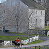 Caption: returning to the trailers after the hunt.<br /> Woodford Hounds Blessing on Saturday, November 28, 2010, at Shaker Village near Harrodsburg, Ky.<br /> BlessingHunt2010 image259<br /> Photo by Anne M. Eberhardt