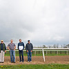 Caption: (L-R): Steve Johnson, Erik Johnson, Matt Bowling, Kevin Noltemeyer<br /> Training at Silver Springs Training, part of Silver Springs Stud, near Lexington, Ky.,  on April 8, 2020 Silver Springs in Lexington, KY.