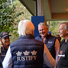 Waiting for arrival, l-r, Tanya Gunther, Bob Baffert, Charlie O'Connor, John Gunther. Justify arrives at Ashford Stud.<br /> Keeneland September Sales from Sept. 7 to Sept. 23, 2018. Sept. 17, 2018 Ashford in Versailles, Kentucky.