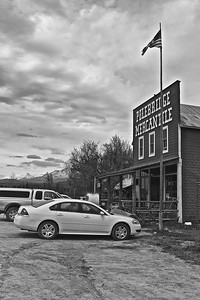 The Polebridge Mercantile in Glacier National Park, Montana, in June