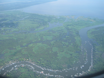 First view of Tonle Sap, as we land at Siem Reap
