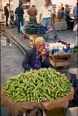 Selling vegetables on the market