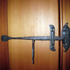 iron door latch