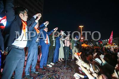 2017 оны зургаадугаар сарын 23.  Монгол Улсын Ерөнхийлөгчийн сонгуульд МАХН-аас нэр дэвшигч Сайнхүүгийн Ганбаатар Эрх чөлөөний талбайд иргэдтэй уулзалт хийлээ.                                                                ГЭРЭЛ ЗУРГИЙГ Б.БЯМБА-ОЧИР /MPA