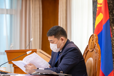 2021 оны хоёрдугаар сарын 10. Засгийн газрын хуралдаан.   ГЭРЭЛ ЗУРГИЙГ Б.БЯМБА-ОЧИР/MPA