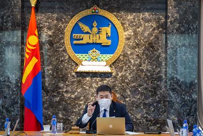 2021 оны хоёрдугаар сарын 14.  Засгийн г азрын хуралдаан.  ГЭРЭЛ ЗУРГИЙГ Б.БЯМБА-ОЧИР/MPA