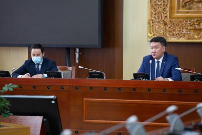 2021 оны хоёрдугаар сарын 14.  Засгийн газрын хуралдаанаас гаргасан шийдвэрийн талаар сангийн сайд Б.Жавхлан мэдээлэл хийлээ.   ГЭРЭЛ ЗУРГИЙГ Б.БЯМБА-ОЧИР/MPA