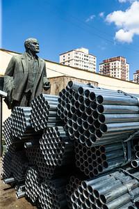 2020 оны наймдугаар сарын 18. Лениний хөшөө.  ГЭРЭЛ ЗУРГИЙГ Б.БЯМБА-ОЧИР/МРА