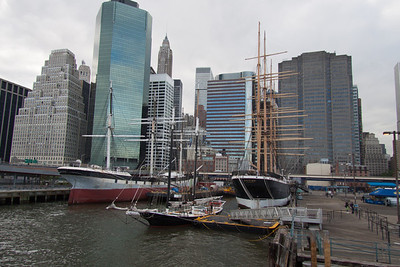 We depart New York's South Street Seaport, leaving the Museum's fleet of historic ships at the pier, and head for the anchorage of those Tall Ships participating in OpSail 2012.