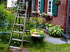 Garden with ladder and hat<br /> Wustrow, Germany<br /> <br /> 02-249