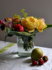 Still life with pear and strawberries<br /> <br /> 01-044