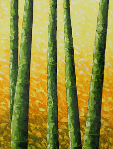 """Bamboo"" (oil) by Annalise Dos Ramos"