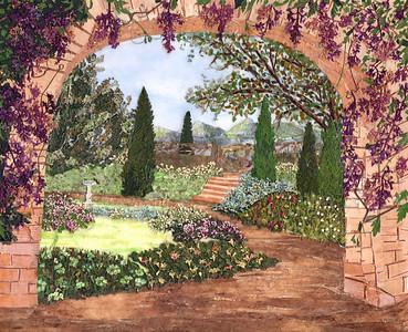 """Spring Garden"" (pressed plant materials) by Simona Aizicovici"