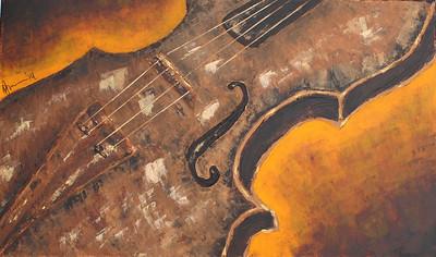 """Violin"" (acrylic) by Annalise Dos Ramos"