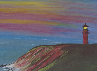 """Gay Head Martha's Vineyard"" (acrylic on canvas) by Sue Alexander"