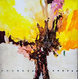 """""""Wishknot tree (peacetree)"""" (mix media on canvas) by Mahtab Firouzabadi"""