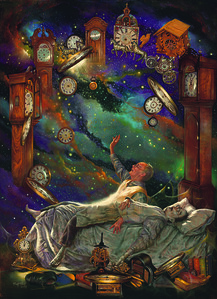 """""""The Clockmaker"""" (pastel, pen & ink) by Tony Troy"""