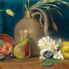 """Salt Glazed Jug with Fall Forage"" (oil on panel) by Abran Keranen"