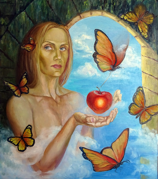 """window into dreams"" (oil on canvas) by Svetlana Belova"