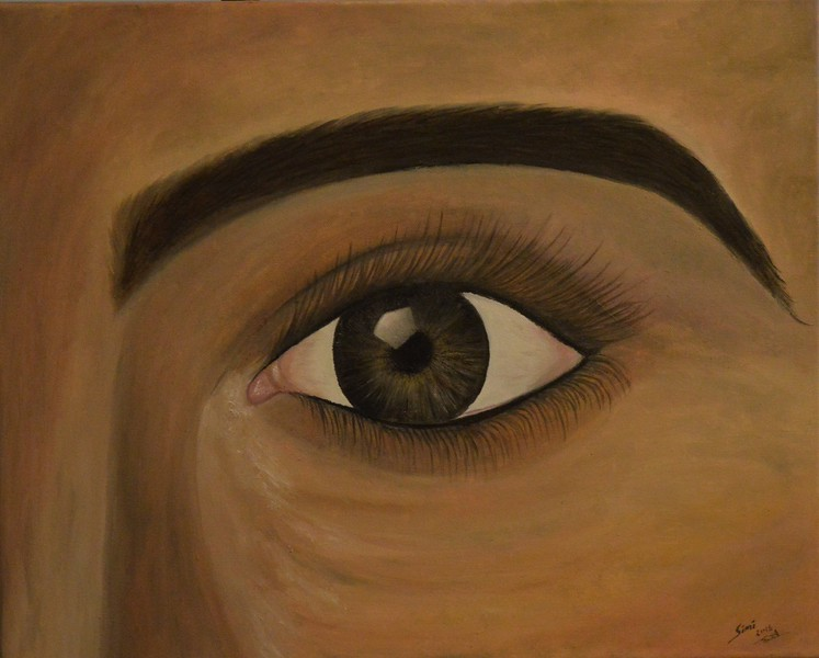 """Eyes"" (oil) by Simi Abdul Kareem"