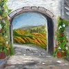 """Archway of Hope"" (oil on canvas) by Rohit Burra"