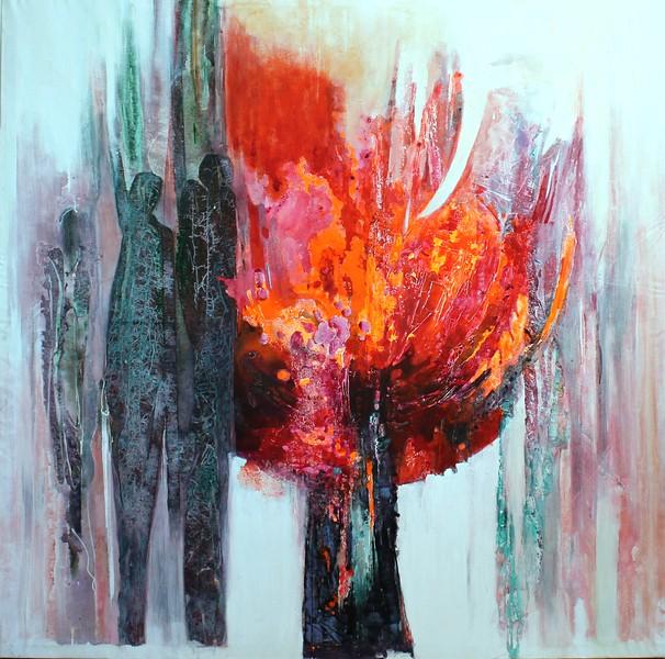 """""""Harmony"""" (acryic) by Mahtab Firouzabadi"""