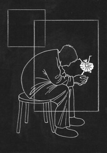 """Farewell"" (Paper, pencil, liquid paint marker) by Lea Daniel"
