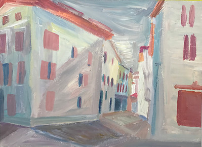 """Bystreet"" (acrylic) by Varvara Gnucheva"